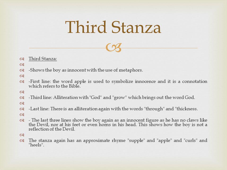 Third Stanza Third Stanza: