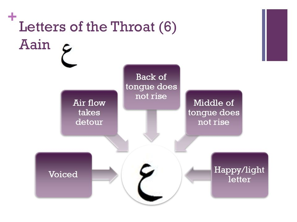 Letters of the Throat (6) Aain