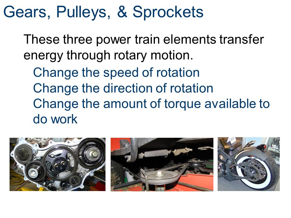Gears, Pulleys, & Sprockets
