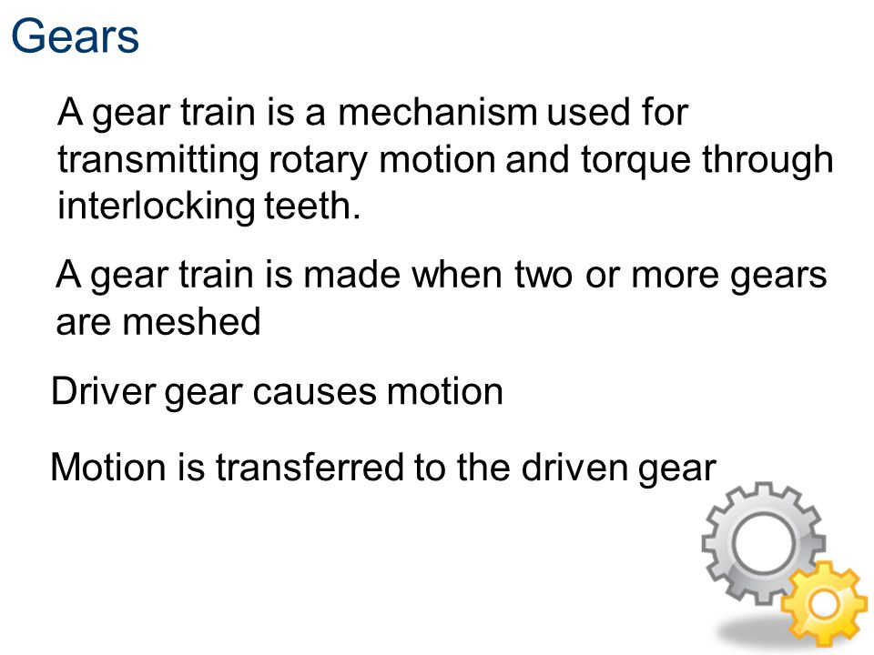 Gears, Pulleys, and Sprockets