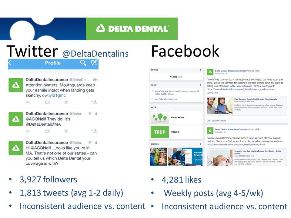 Twitter @DeltaDentalins Facebook