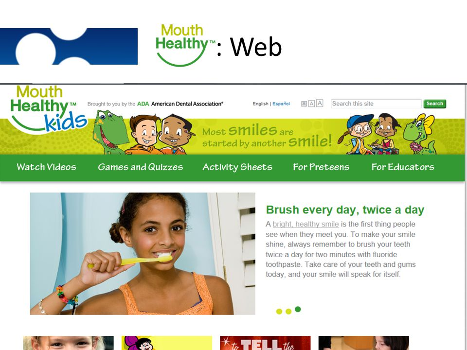 : Web Main page, all content is above the fold