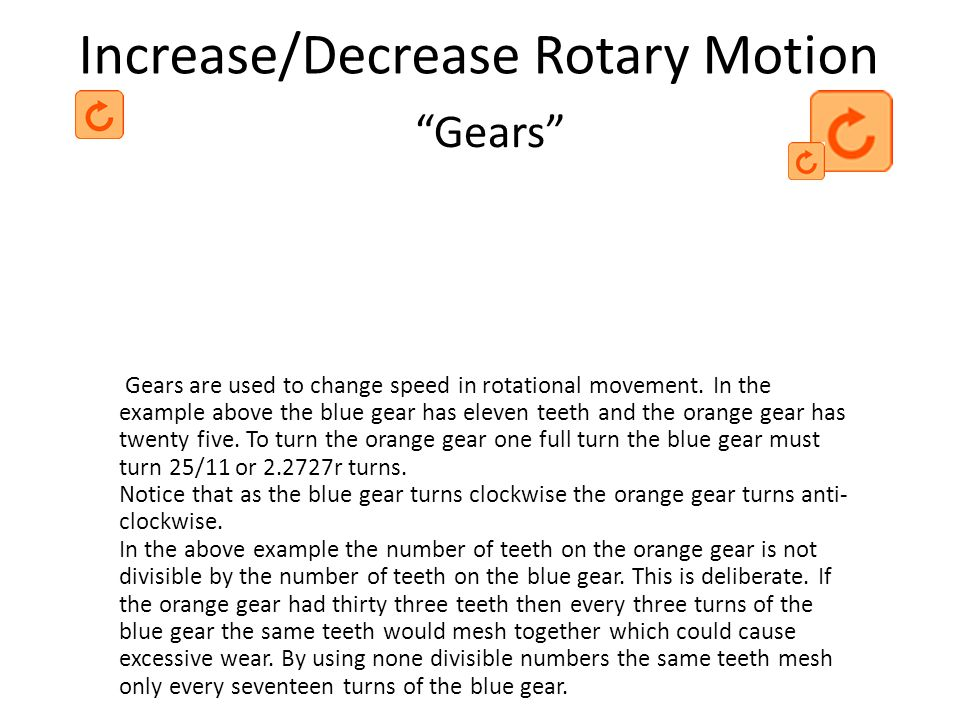 Increase/Decrease Rotary Motion