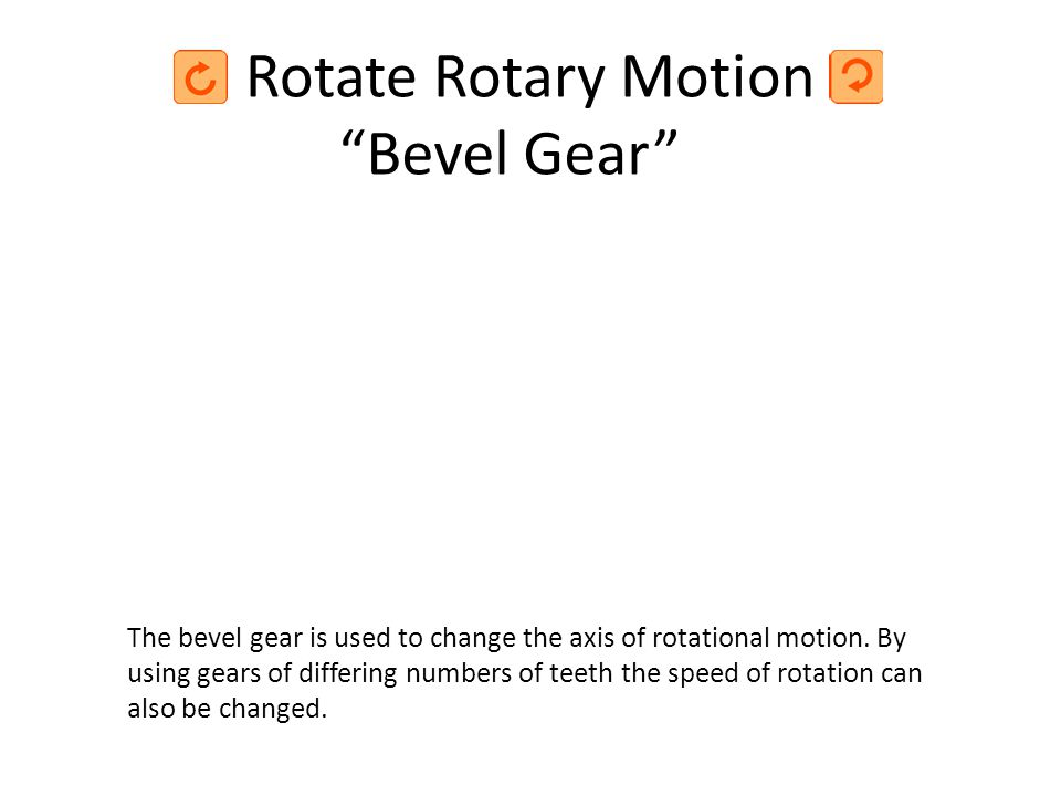 Rotate Rotary Motion Bevel Gear