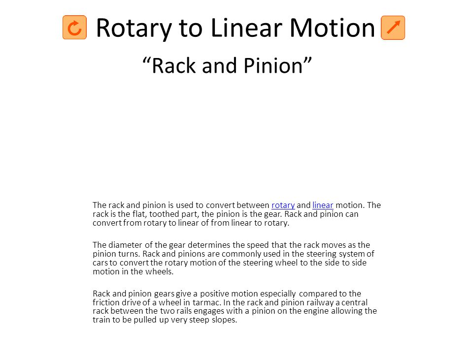 Rotary to Linear Motion