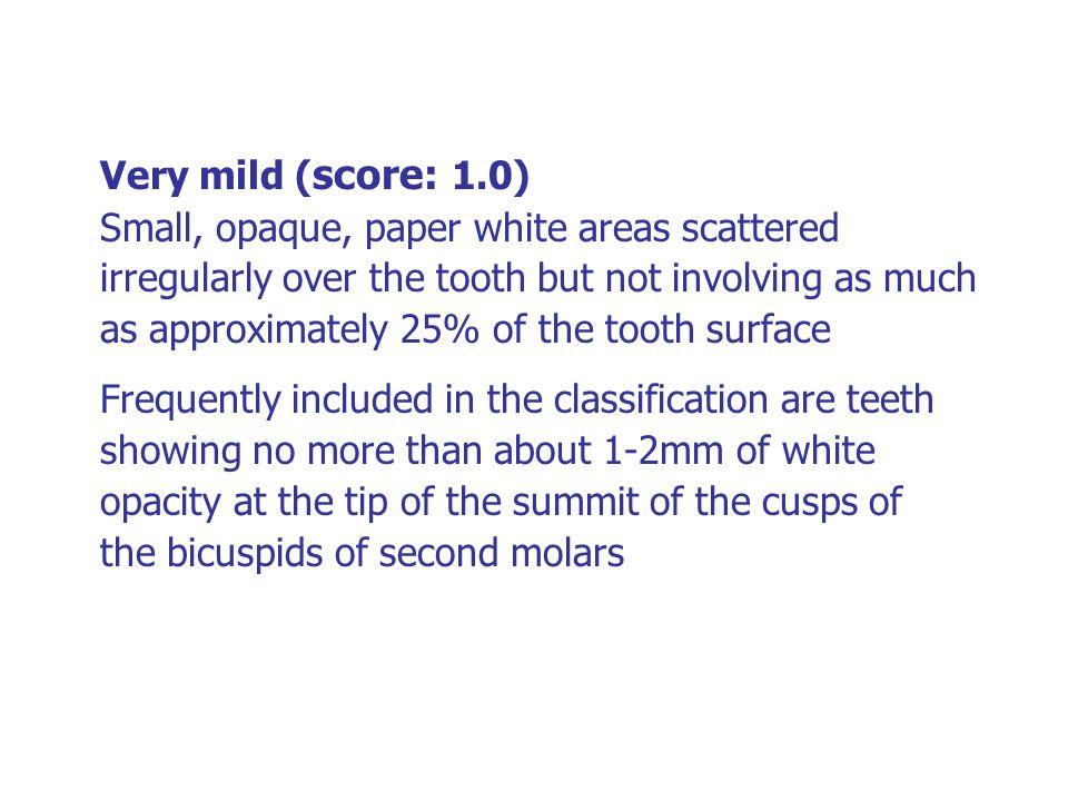 Very mild (score: 1.0)