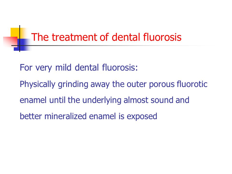 The treatment of dental fluorosis
