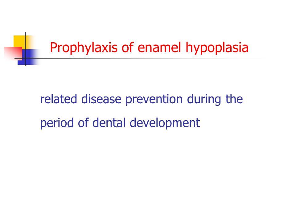 Prophylaxis of enamel hypoplasia