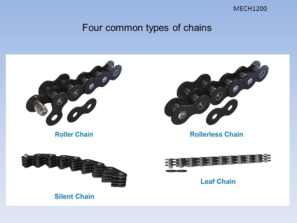 Four common types of chains
