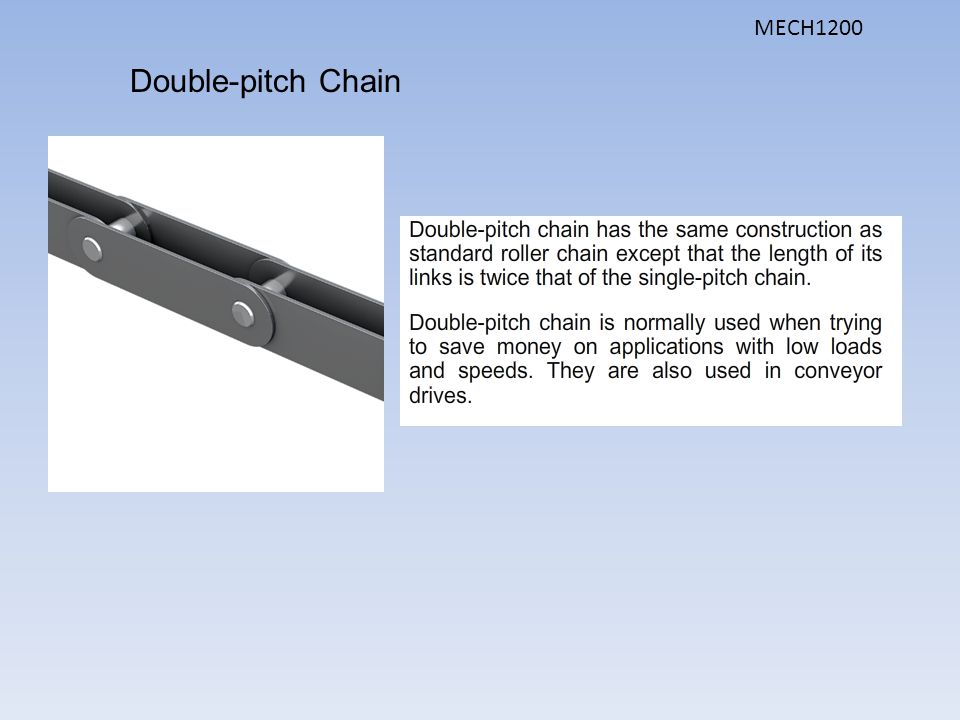 MECH1200 Double-pitch Chain