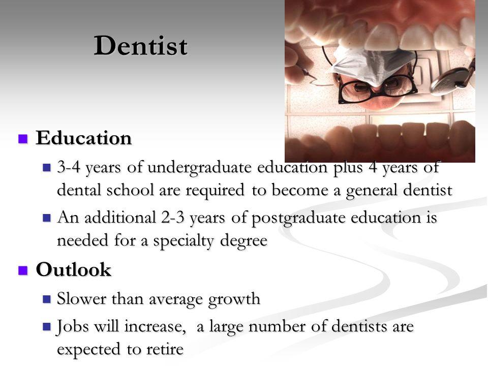 Dentist Education Outlook