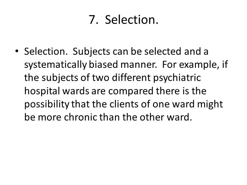 7. Selection.