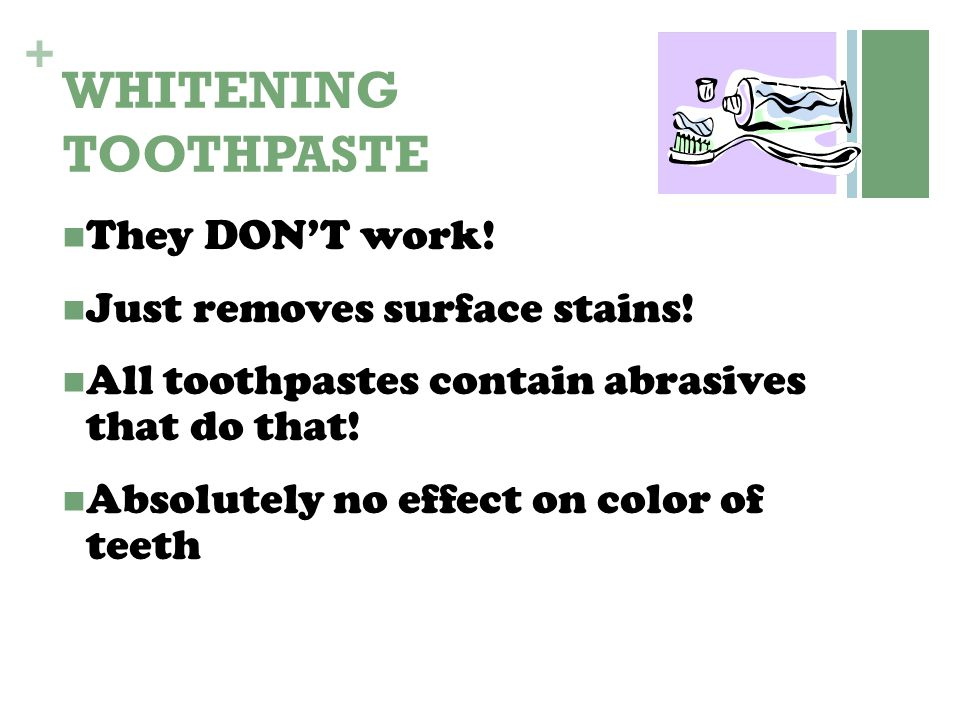 WHITENING TOOTHPASTE They DON'T work! Just removes surface stains!