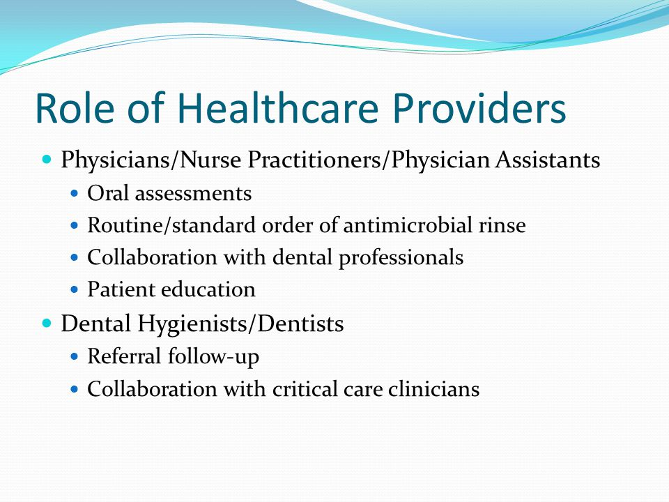 Role of Healthcare Providers