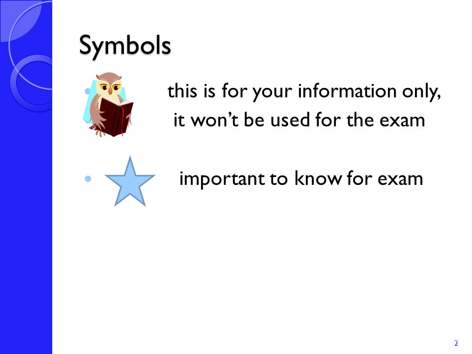 Symbols this is for your information only,