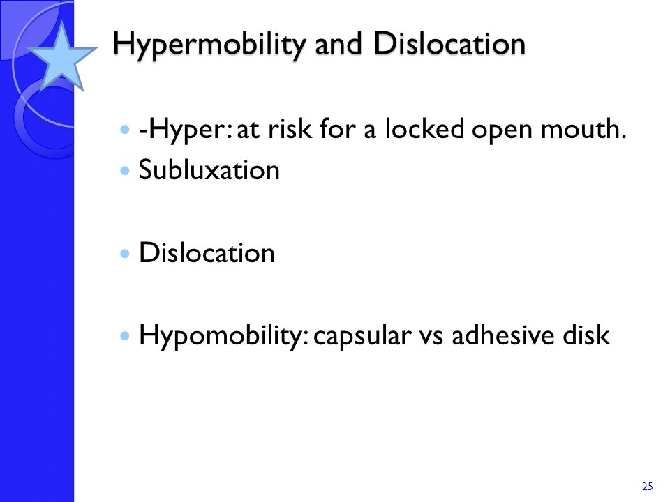 Hypermobility and Dislocation