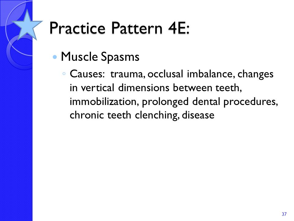Practice Pattern 4E: Muscle Spasms