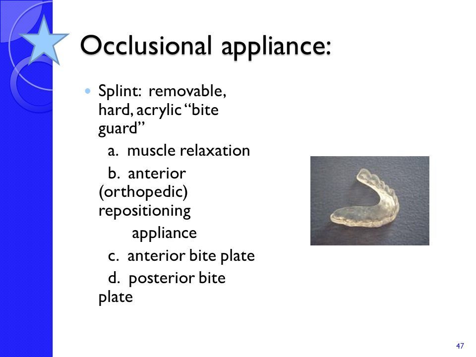 Occlusional appliance:
