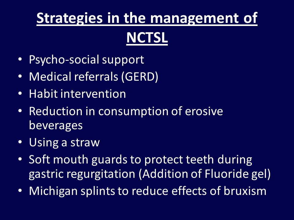 Strategies in the management of NCTSL