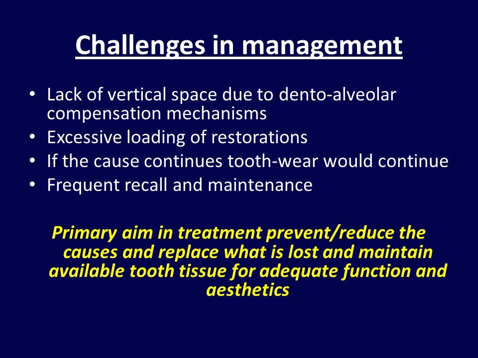 Challenges in management