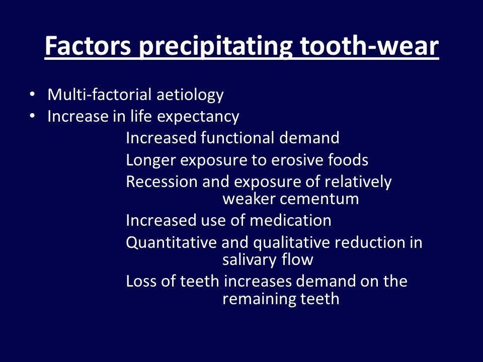 Factors precipitating tooth-wear