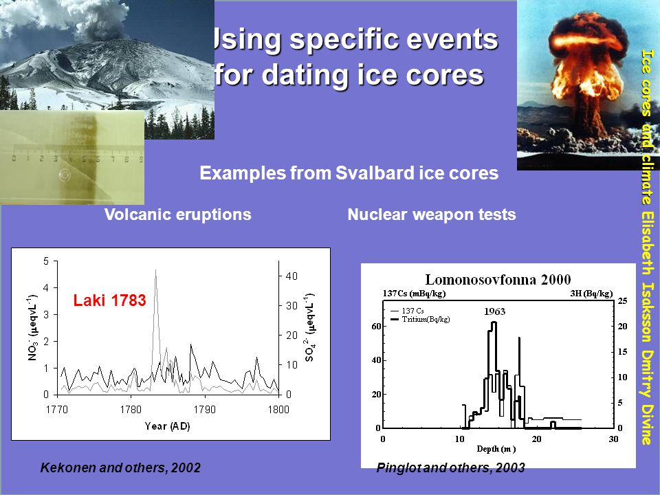 Ice cores and climate Elisabeth Isaksson Dmitry Divine