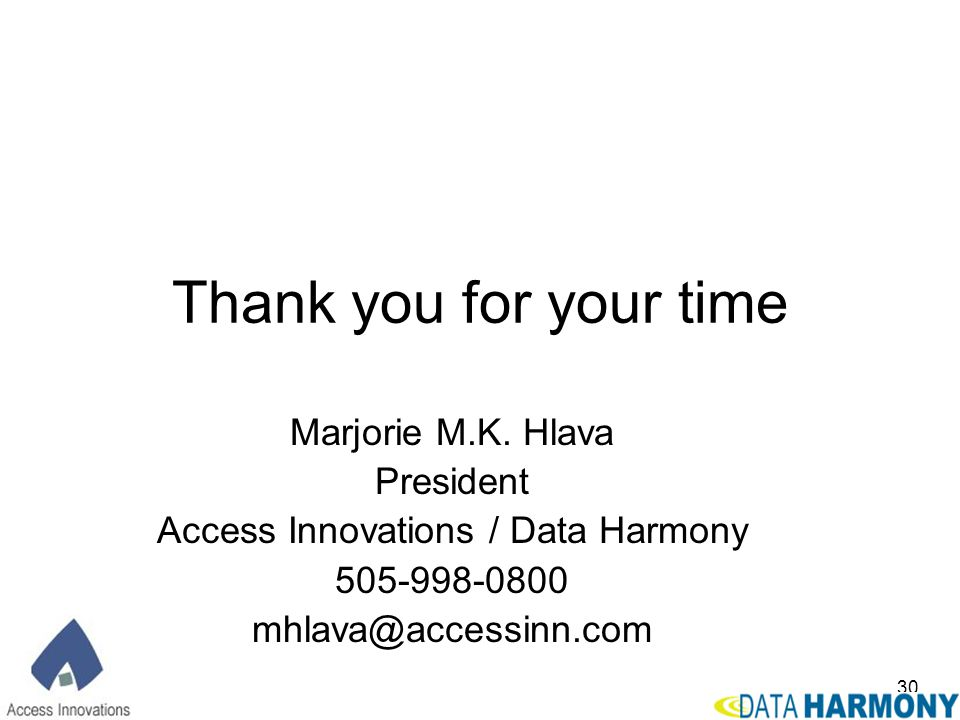 Access Innovations / Data Harmony