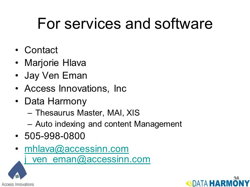 For services and software