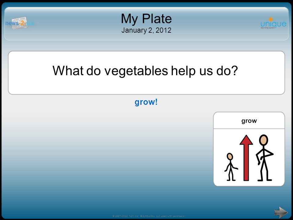 What do vegetables help us do