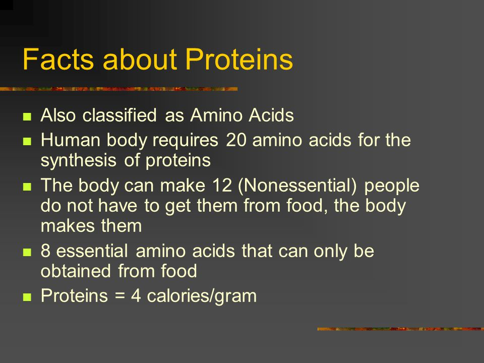 Facts about Proteins Also classified as Amino Acids