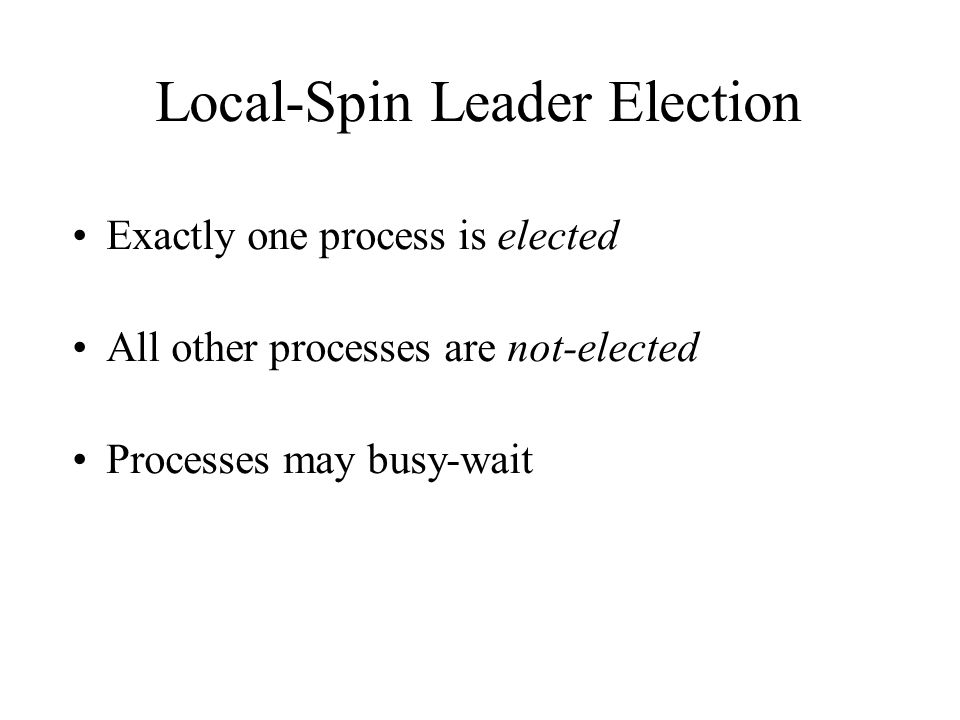 Local-Spin Leader Election