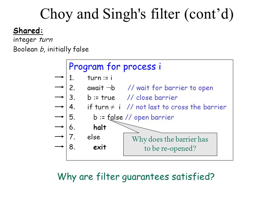 Choy and Singh s filter (cont'd)