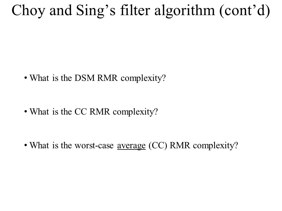 Choy and Sing's filter algorithm (cont'd)