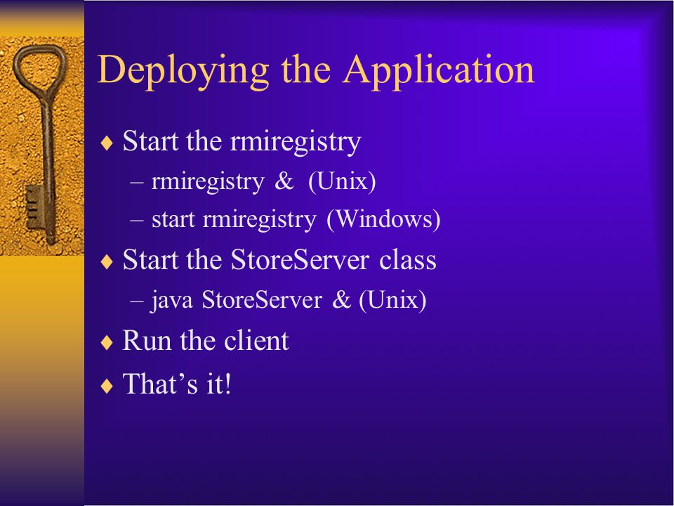 Deploying the Application