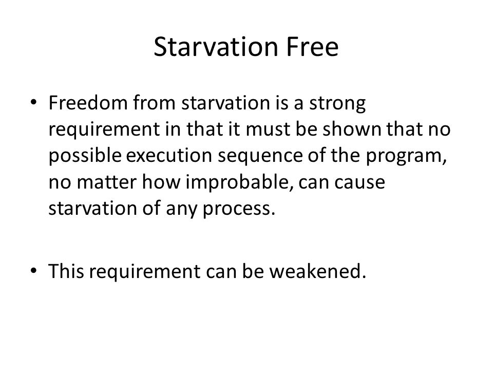 Starvation Free