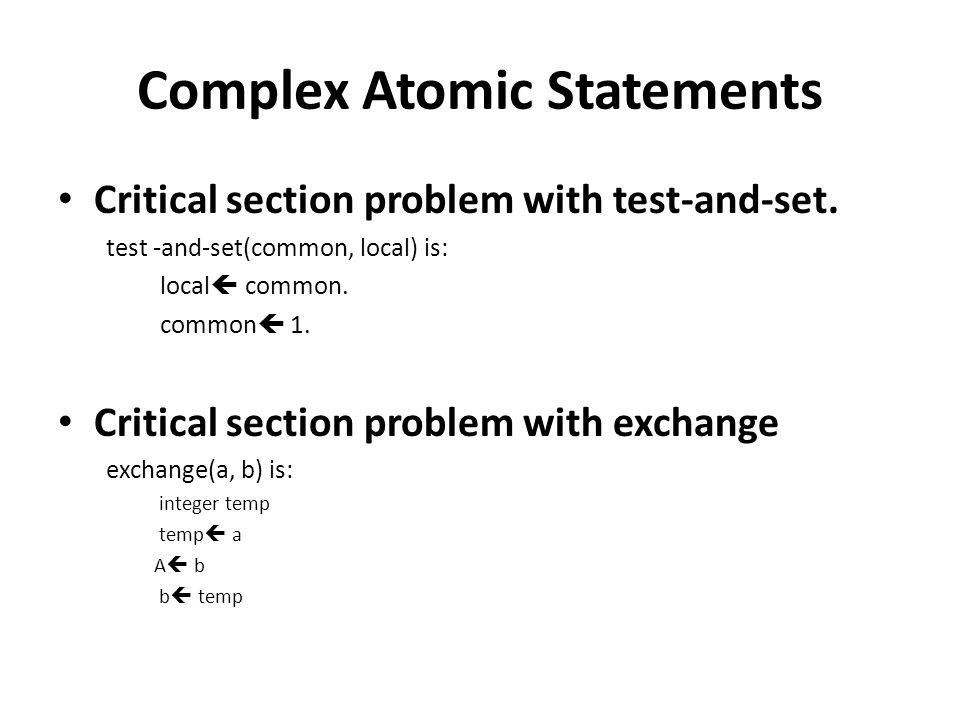 Complex Atomic Statements
