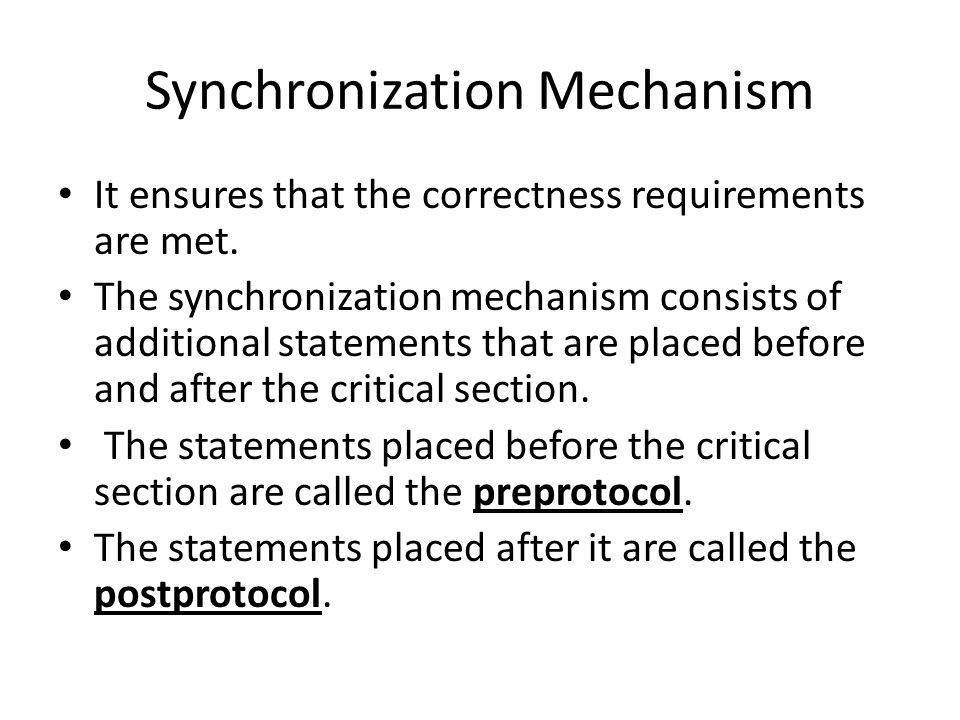 Synchronization Mechanism
