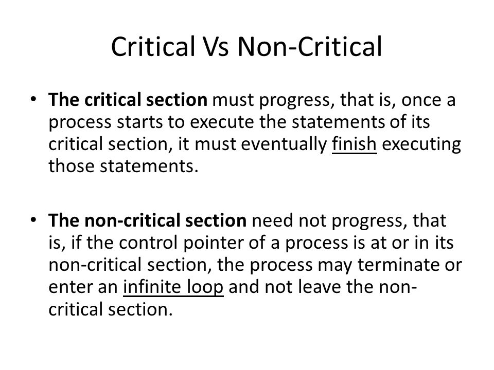 Critical Vs Non-Critical
