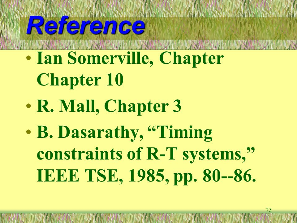 Reference Ian Somerville, Chapter Chapter 10 R. Mall, Chapter 3