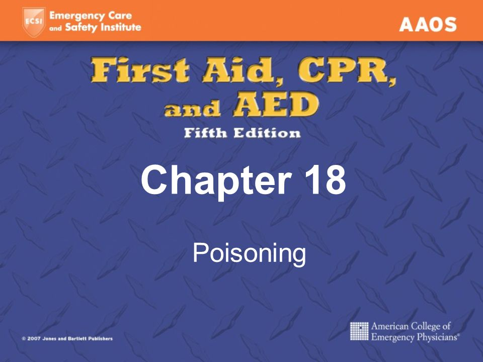 Chapter 18 Poisoning