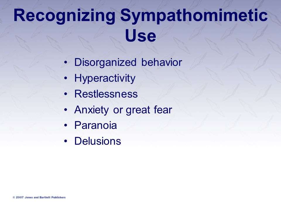 Recognizing Sympathomimetic Use