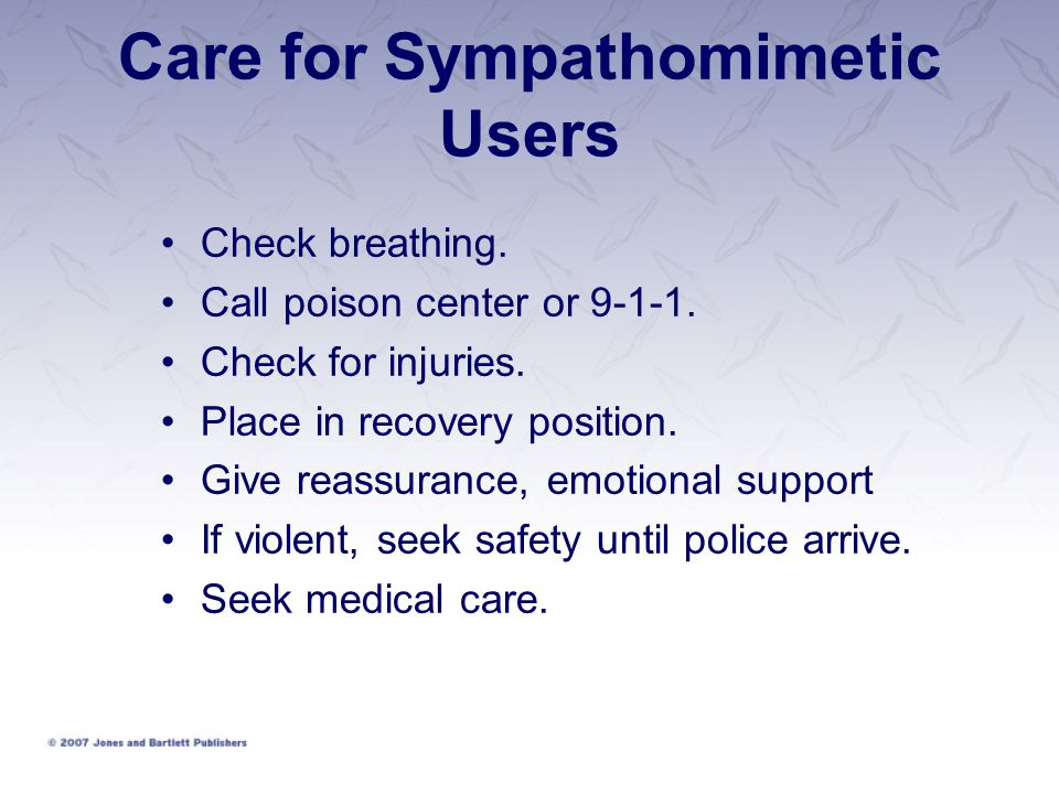 Care for Sympathomimetic Users