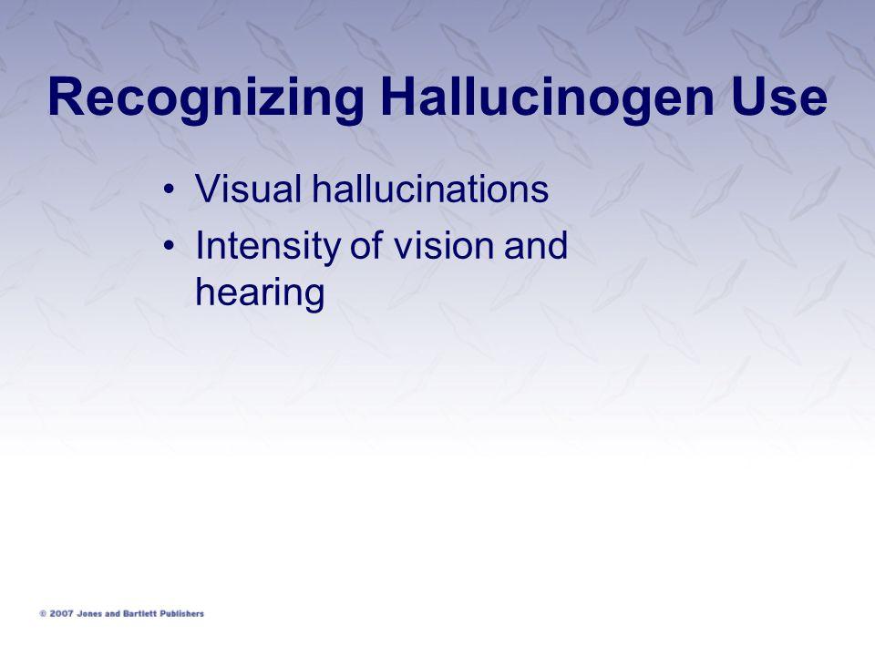 Recognizing Hallucinogen Use