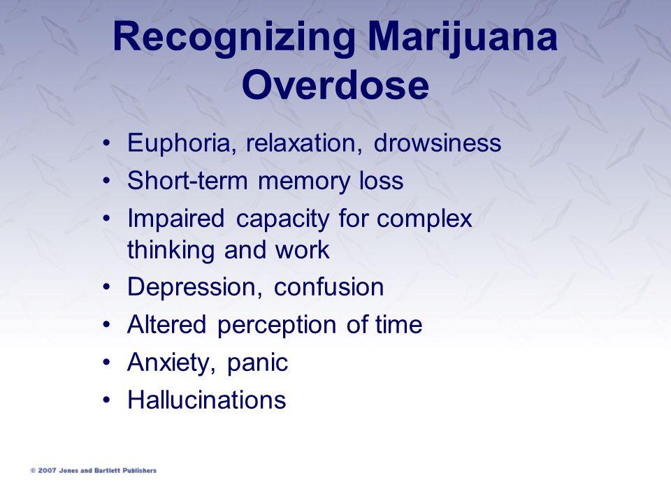 Recognizing Marijuana Overdose