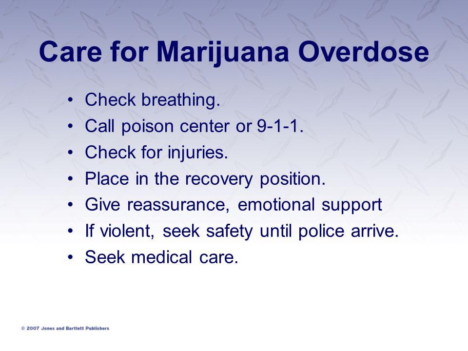 Care for Marijuana Overdose