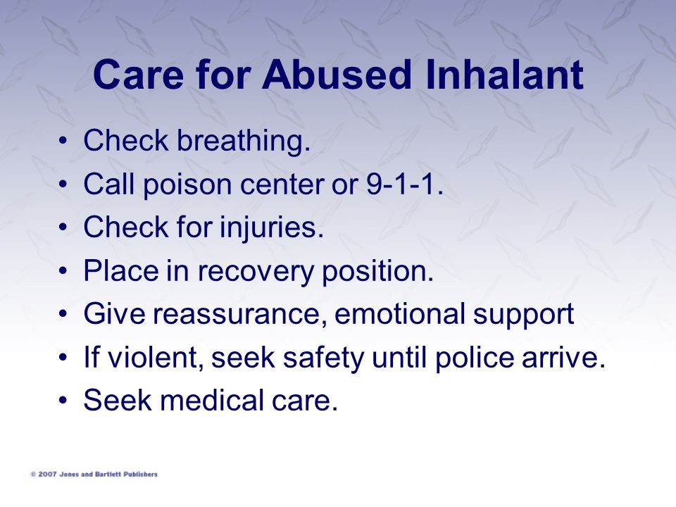 Care for Abused Inhalant