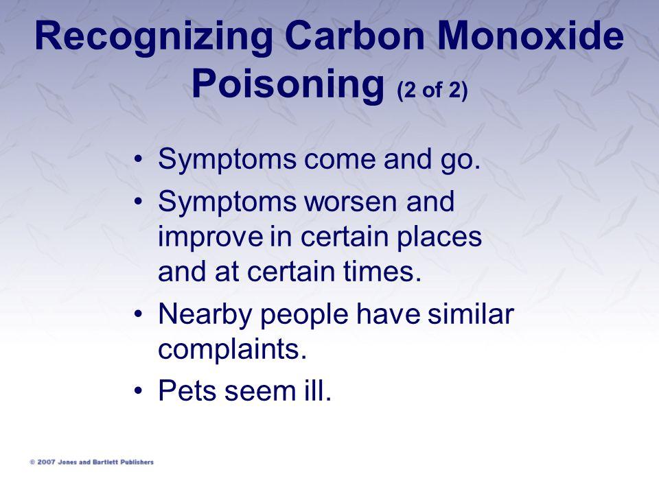 Recognizing Carbon Monoxide Poisoning (2 of 2)