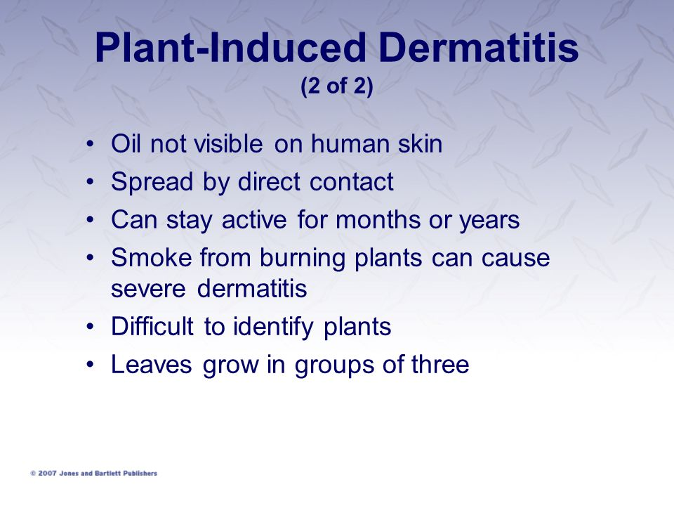 Plant-Induced Dermatitis (2 of 2)
