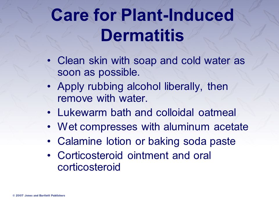 Care for Plant-Induced Dermatitis