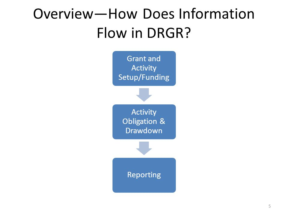 Overview—How Does Information Flow in DRGR